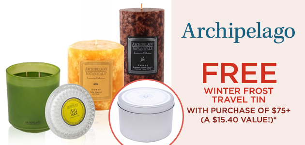Archipelago FREE Winter Frost Travel Tin with Purchase of $75+ (A $15.40 Value!)*
