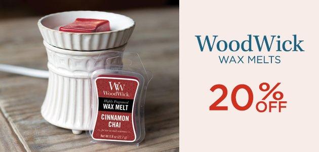 WoodWick Wax Melts 20% OFF