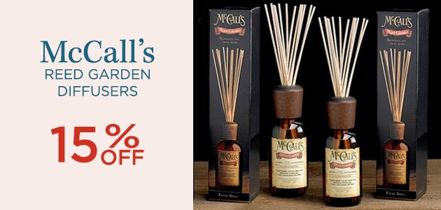 McCall's Reed Garden Diffusers 15% OFF