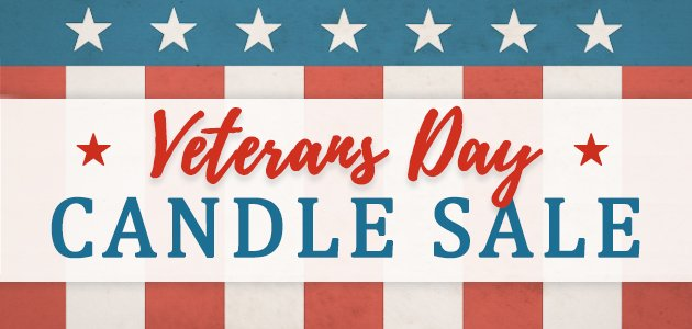 Veterans Day Candle Sale