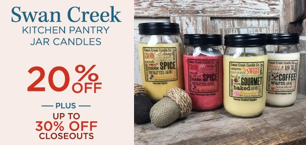 Swan Creek Kitchen Pantry Jar Candles 20% OFF Plus, Up To 30% OFF Closeouts