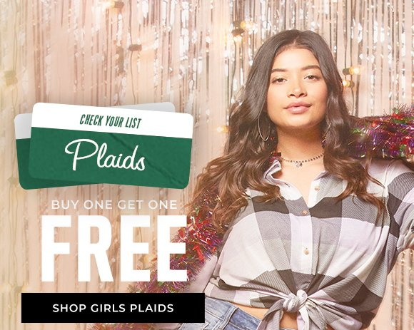 buy one get one free plaids shop girls plaids