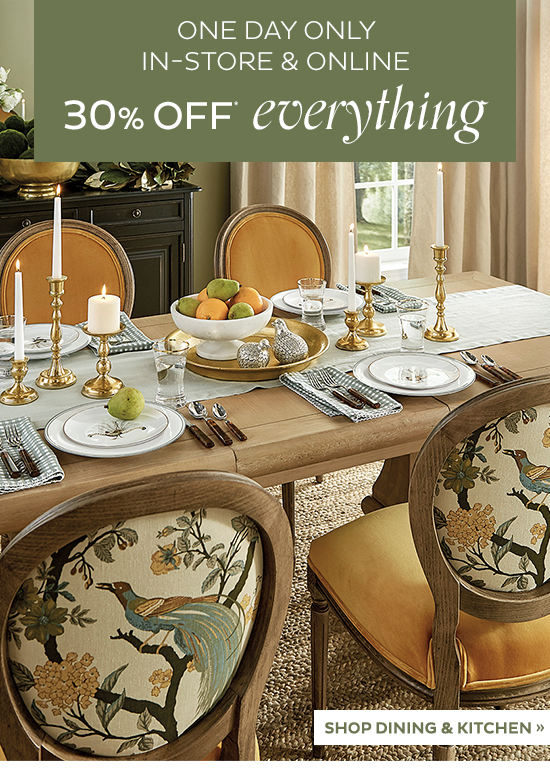 Ballard Designs One Day Only 30 Off Everything Milled