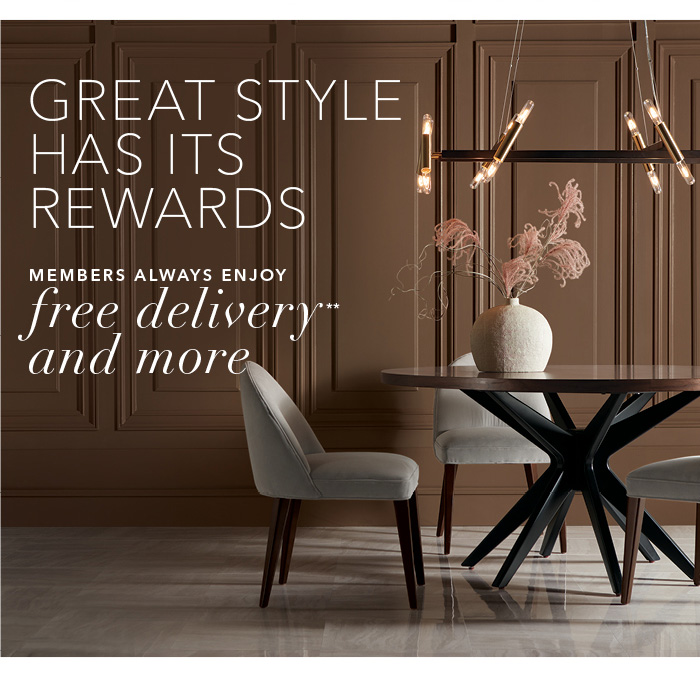 Introducing the new Ethan Allen membership program. 20% savings* and free delivery** on every style, every day. For a limited time, receive a free candle or diffuser when you sign up for the Ethan Allen Member Program. Join now >