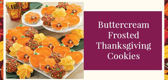 Buttercream Frosted Thanksgiving Cookies