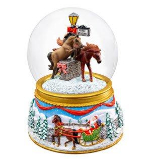 """Merry Meadows"" Musical Snow Globe"