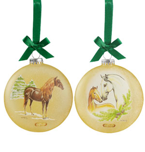 Artist Signature Breyer Ornament, Spanish Horses