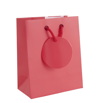 Geschenktasche S rot 16 x 12,5 x 7,5cm
