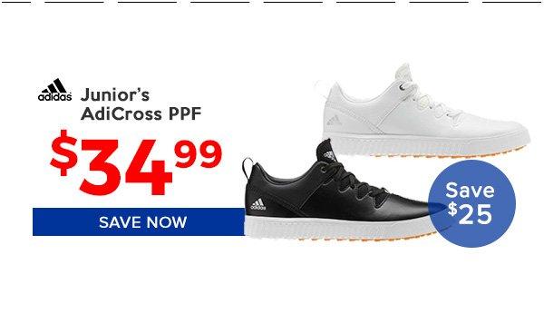 Adidas Junors AdiCross PPF Golf Shoes $34.99, Save $25