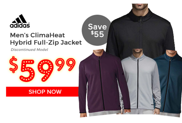 Adidas Climaheat Hybrid Full-Zip Jacket $59.99, Save $55
