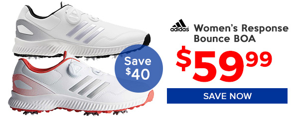 Adidas Women's Response Bounce BOA Golf Shoes $59.99, Save $40