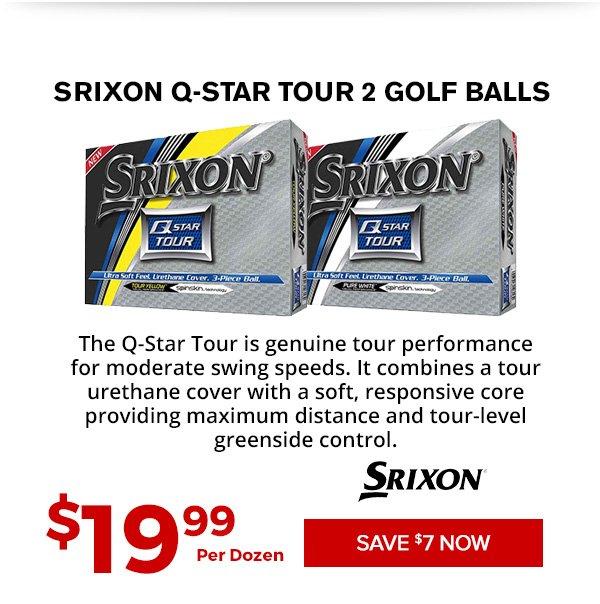 Srixon Q-Star Tour 2 Golf Balls $19.99