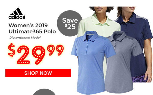 Adidas Women's 2019 Ultimate365 Polo $29.99, Save $25