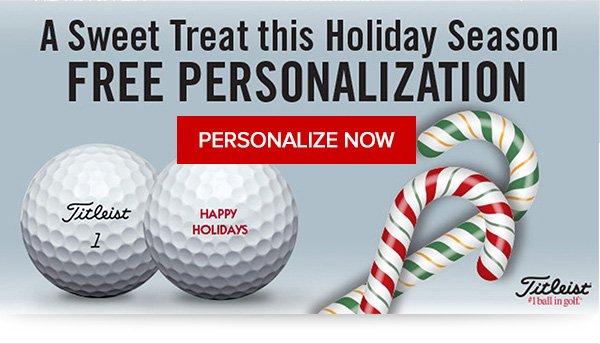 Get Free Personalization on Titleist Golf Balls