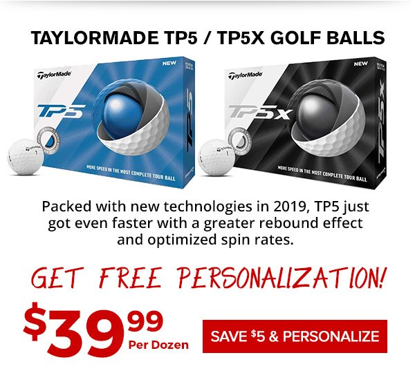 TaylorMade TP5 and TP5x Golf Balls $39.99