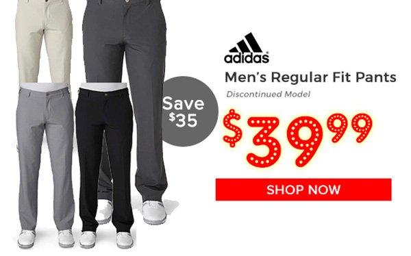 Adidas Regular Fit Golf Pants $39.99, Save $35