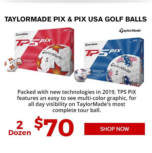 TaylorMade TP5 PiX Golf Balls 2 for $70
