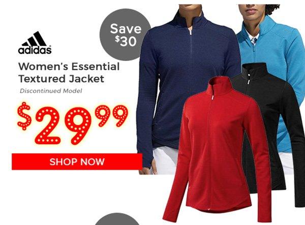 Adidas Women's Essential Textured Jacket $29.99, Save $30