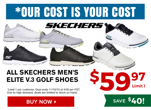 Our Cost is Your Cost Specials, Skechers Elite V.3 Golf Shoes $59.97, Save $40