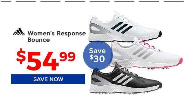 Adidas Women's Response Bounce Golf Shoes $54.99, Save $30