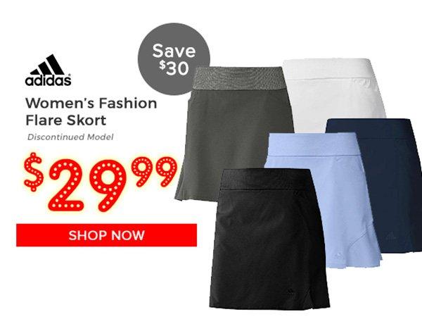 Adidas Women's Fashion Flare Skort $29.99, Save $30
