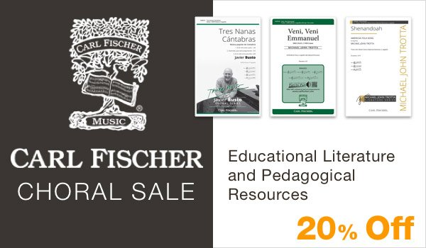 20% off Carl Fischer Choral Sale