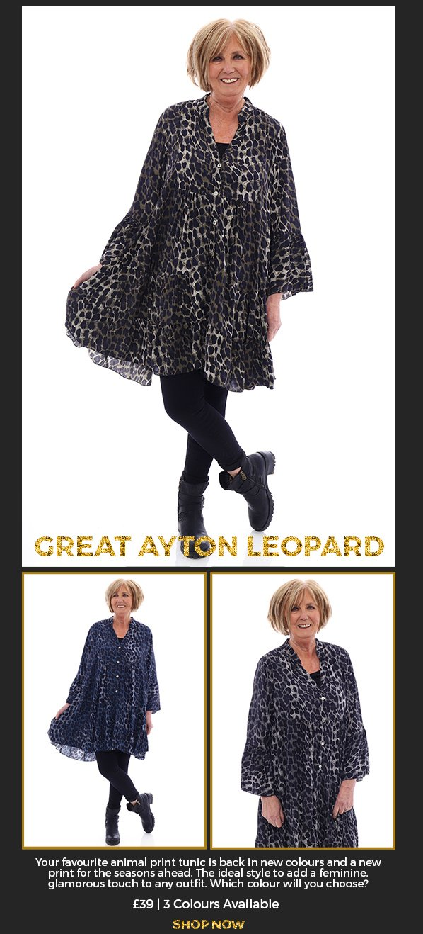 Made in Italy Great Ayton Leopard Print Tunic - £39 - Shop Now