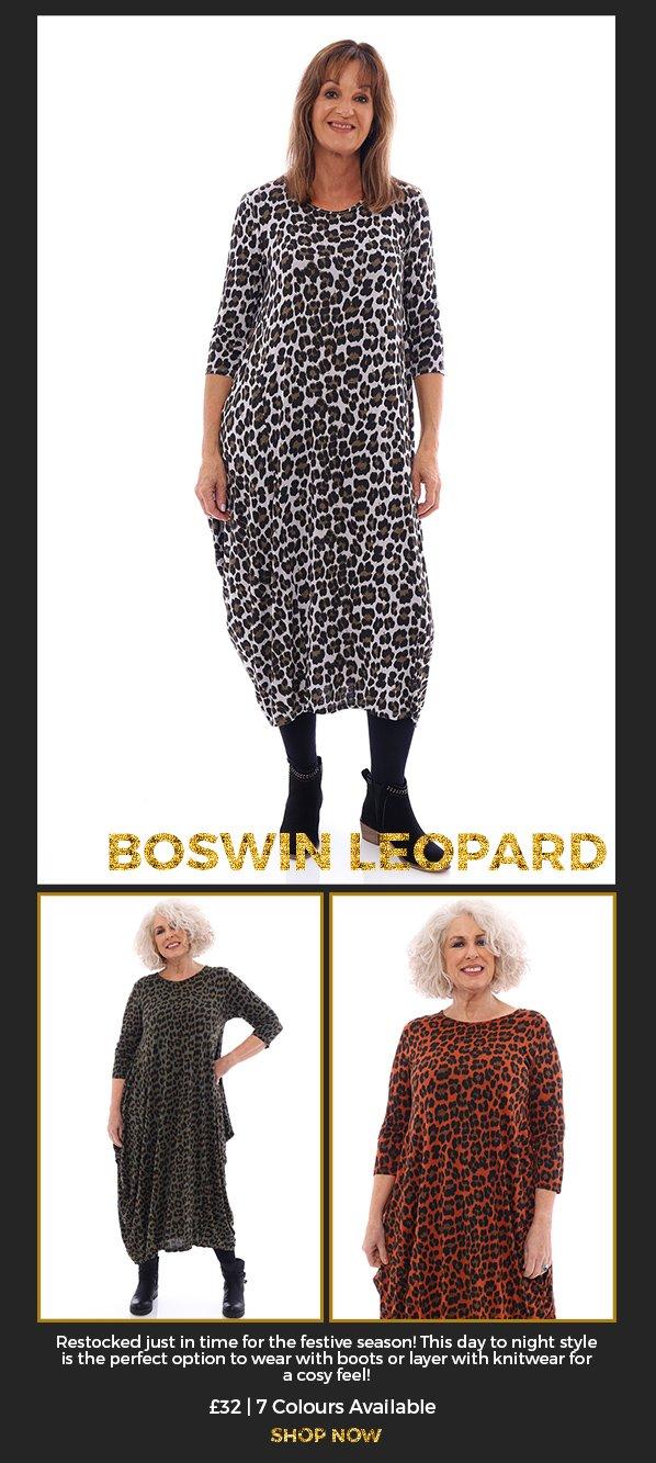 Made in Italy Boswin Leopard Dress - Shop Now