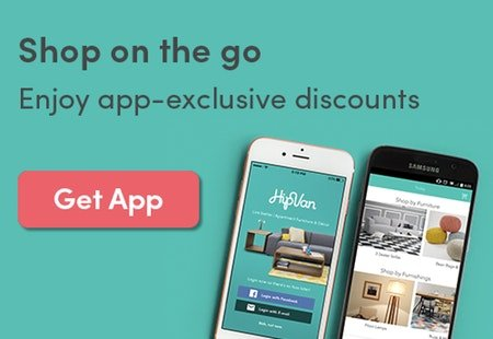 HipVan app displayed on Android and iOS phones with a 'Get App' button