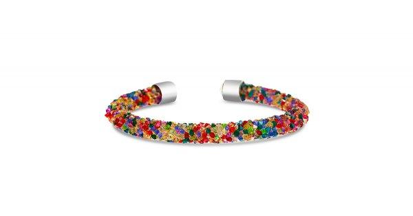 Multi-Colored Crystal Bangle Bracelet