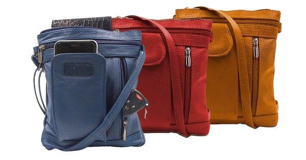 """On-the-Go"" Soft Leather Crossbody Bag - 9 Styles"