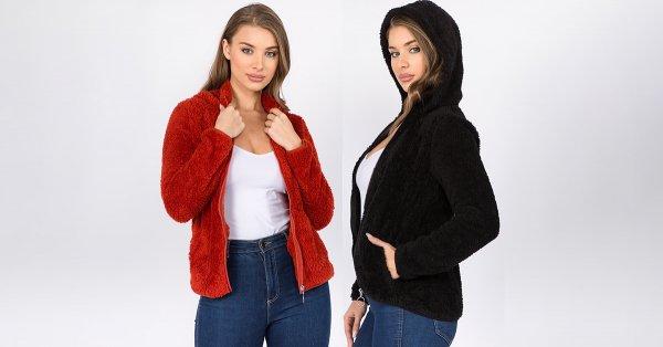 Hooded Sherpa Jacket - 3 Colors