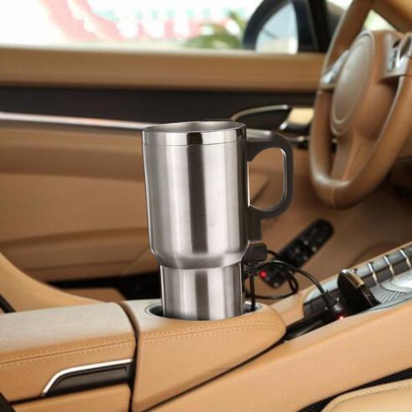 Verwarmde Roestvrijstalen Koffiebeker voor in de Auto
