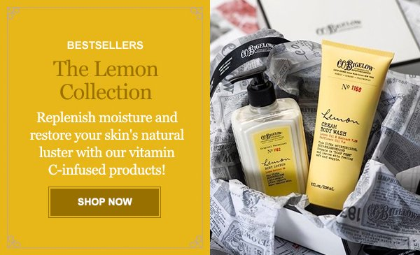 BESTSELLERS The Lemon Collection SHOP NOW
