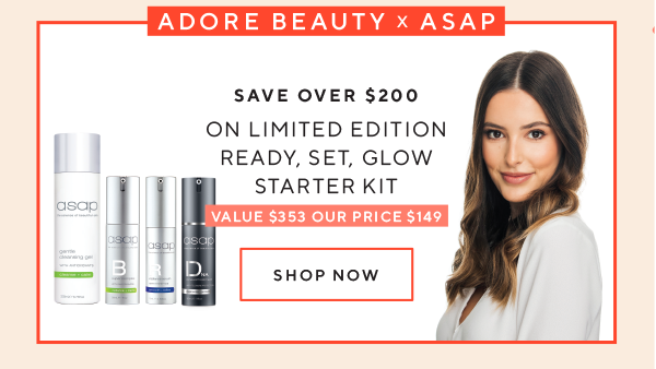 Adore Beauty x asap Limited Edition Ready, Set, Glow Starter Kit