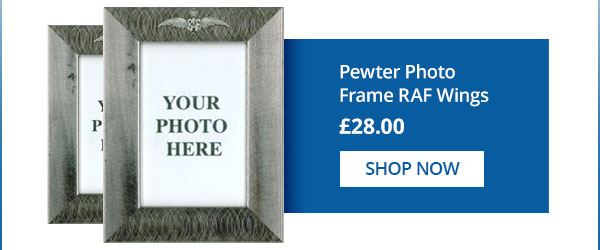 Pewter Photo Frame - RAF Wings