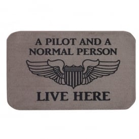 Doormat - A Pilot and a Normal Person Live Here