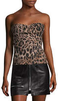 Strapless Leopard Print Top