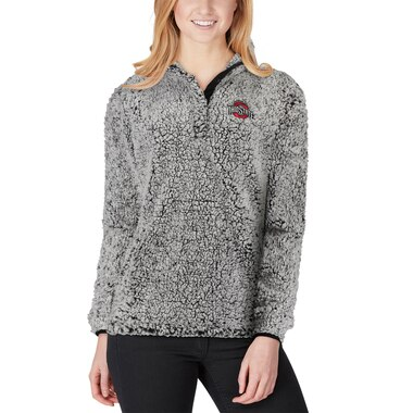 Ohio State Buckeyes Women's Charcoal Coast to Coast Sherpa Quarter-Snap Pullover Jacket