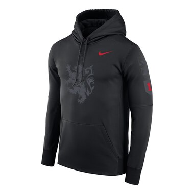 Nike Army Black Knights Black Rivalry Lion Therma Pullover Hoodie