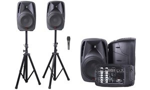 QFX All-In-One 8-Channel Dual 10'' DJ Mixer PA System