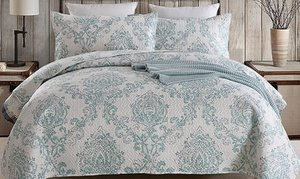 Printed Reversible Bedding Quilt Set (2- or 3-Piece)