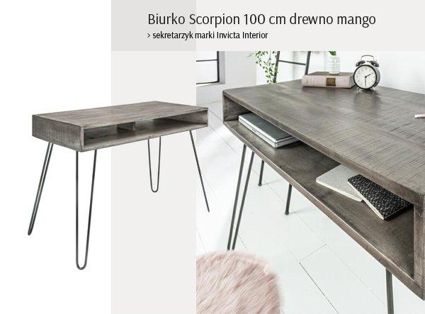 Biurko Scorpion 100 cm drewno mango
