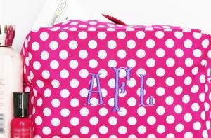 Personalized Polka Dot Cosmetic Bag