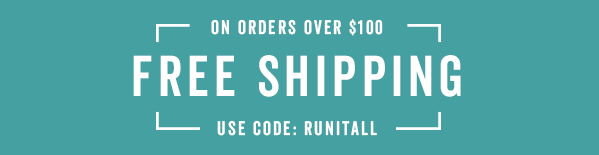 Free Shipping Over $100 With Code: RUNITALL