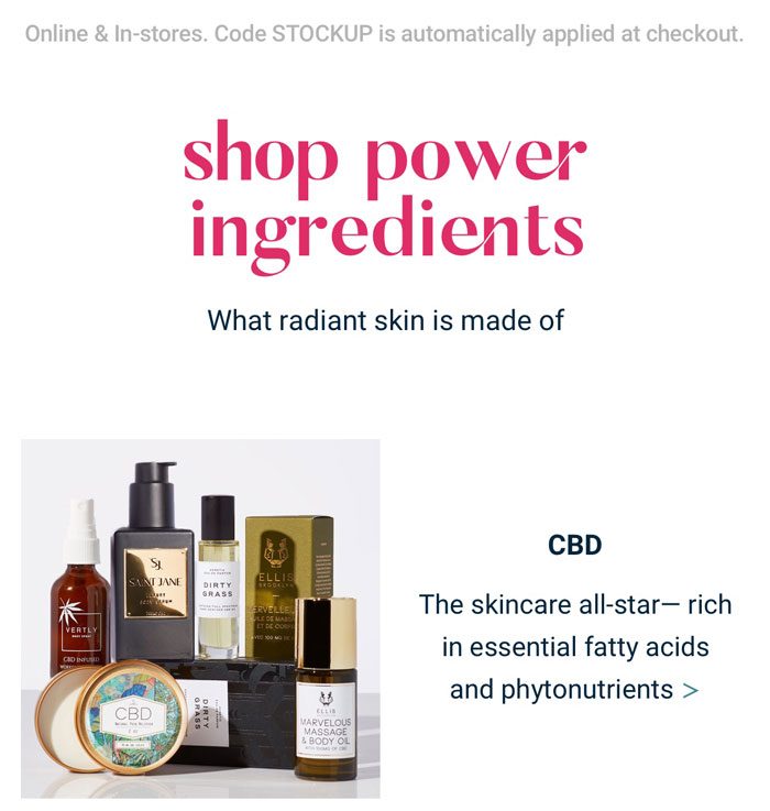 Shop power ingredients | CBD