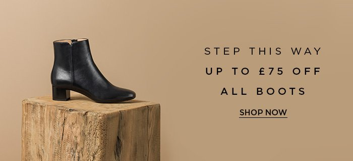 UP TO £75 OFF ALL BOOTS