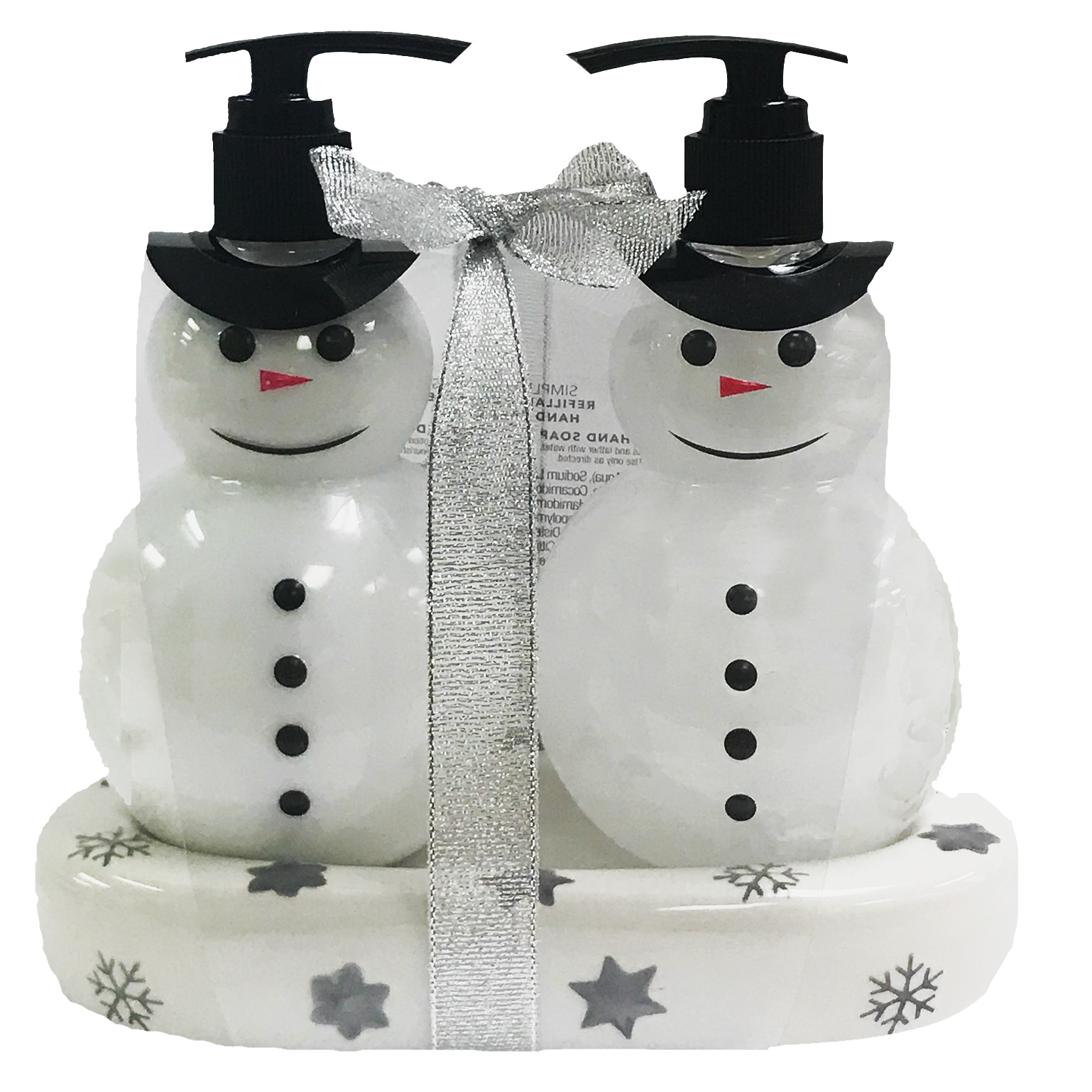 Snowman Hand Soap and Lotion Set
