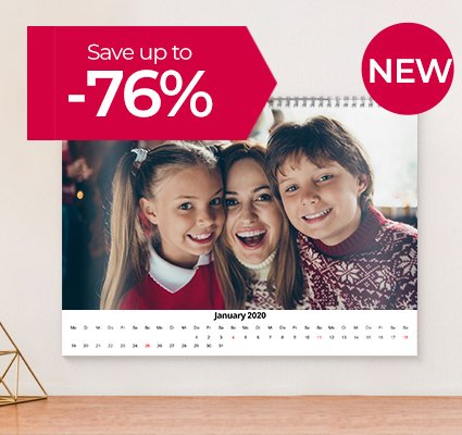 Your Photo Calendar from £5* | Save up to 76%