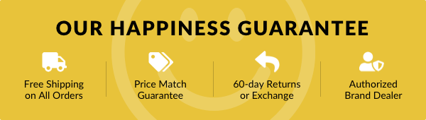 View our Happiness Guarantee